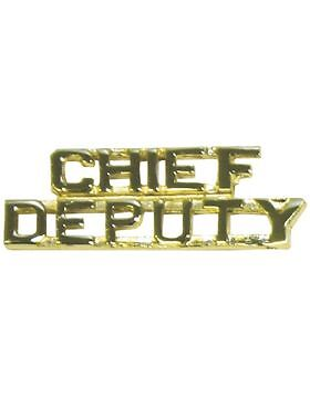 """Tie Tac (U-505G) Chief on Top and Deputy on Bottom Gold 1/4""""Other Militaria - 135"""