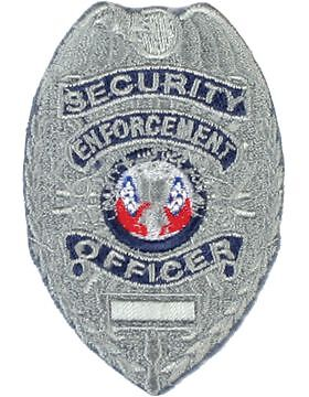 Novelty (U-N205S) Security Enforcement Officer Shield Silver (#115S)Other Militaria - 135