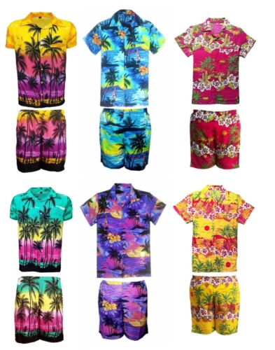 MENS HAWAIIAN SHIRT SHORT  SET STAG BEACH HAWAII ALOHA  SUMMER HOLIDAY FANCY D8 <br/> brand new good item in less price limited stock