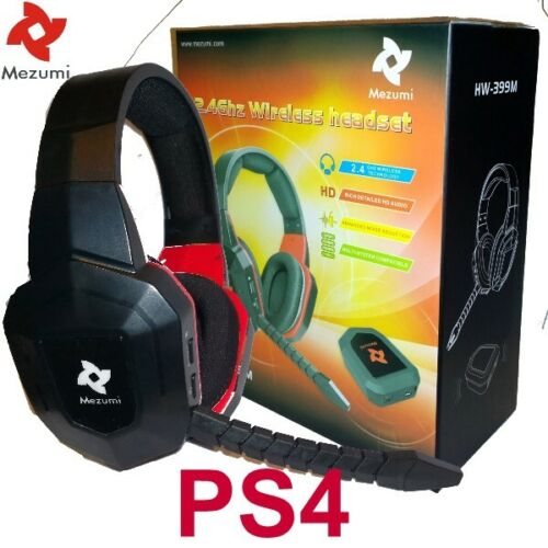 Wireless Gaming Stereo Headphones microphone for PS4 Playstation Noise reduction