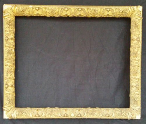 "Giant Gilt-Style Antique Painting Frame 40""x 33"" Outside Dimensions"