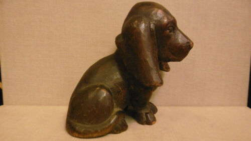 Lovely Antique german black forest carving of puppy dog