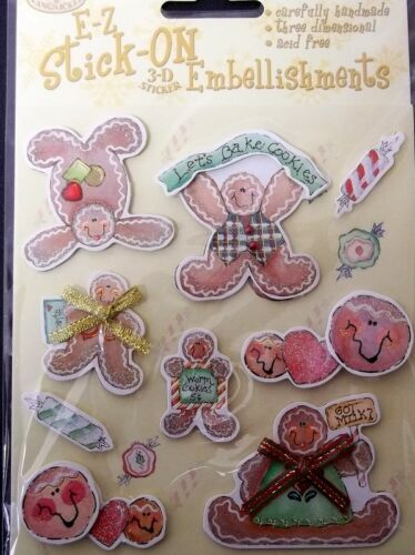 GINGERBREAD & CANDIES ~  Royal & Langnickel 3D Christmas Sticker Embellishments