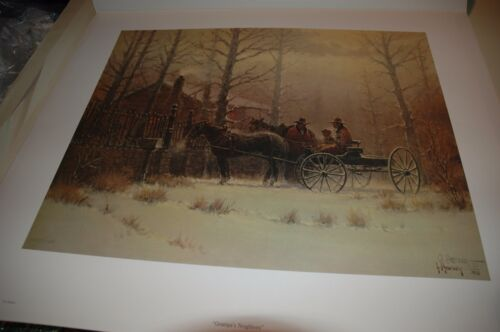 G Harvey GRAMPA'S NEIGHBORS - S/N paper Limited Edition RARE 1979 Grandpa's Art