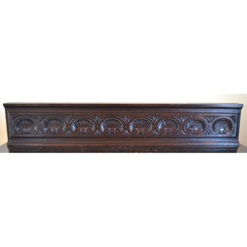 Antique French Louis XVI Carved Walnut Architectural Salvaged Decorative Panel