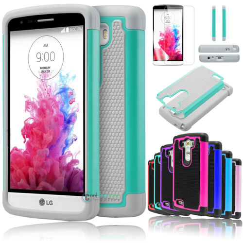 For LG G3 LS990/D855/D850/VS985/US990 Slim Hybrid Rugged Rubber Hard Cover Case