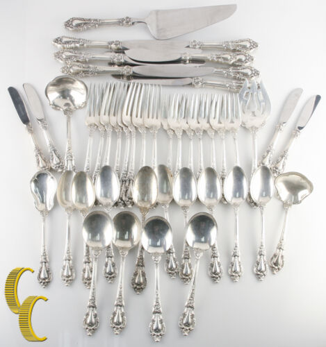 Eloquence by Lunt Sterling Silver Flatware Set 45 Pieces Great Condition!