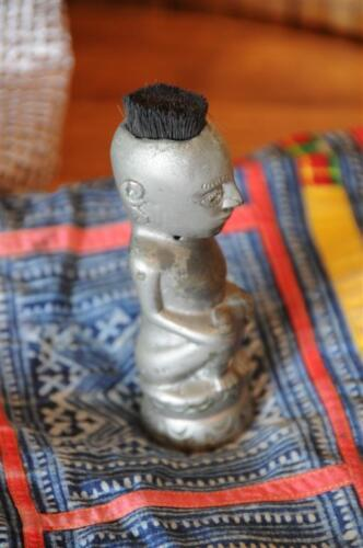 Old Metal Sulawesi Figurine with Brush Hair…  great collector's item...