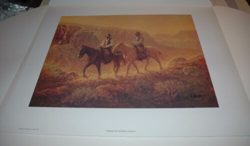G Harvey RIDING THE SALT RIVER CANYON - A/P paper #18 Limited Edition RARE 1978