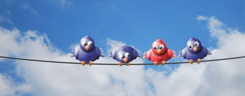 BIRDS ON A WIRE POSTER PRINT 14x36 HI RES 9 MIL PAPER