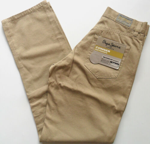 """PEPE Jeans Trousers Men's Chino Twill Casual Pants Cotton Beige Sizes: 28"""" - 36"""""""