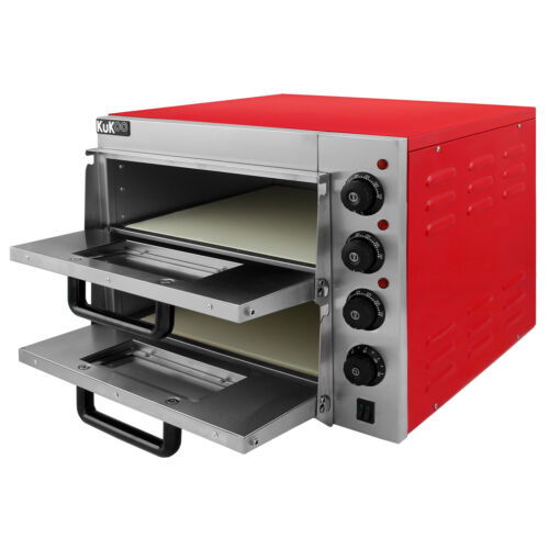 """Electric Pizza Oven 2 x 16"""" Twin Deck Commercial Baking Oven Fire Stone Catering"""