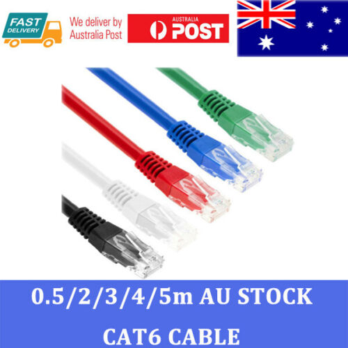 Premium SAA Certified Cat6 Network Cable RJ45 LAN Ethernet 50CM to 5M Solid Copp