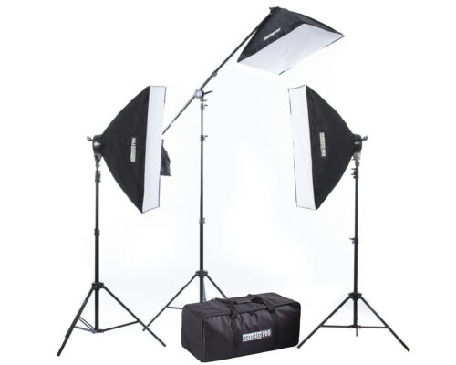 StudioPRO Photo Softbox Studio Photography Lighting 2500W Video Light Boom Arm