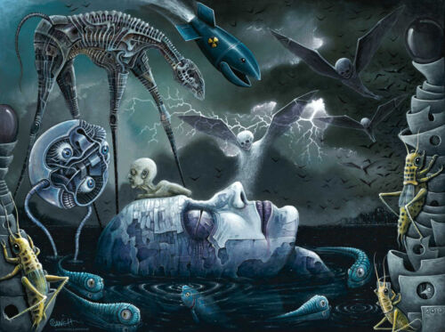 Original Fine Art Print, Signed Giclee by R.S. Connett ~ DREAMS and NIGHTMARES