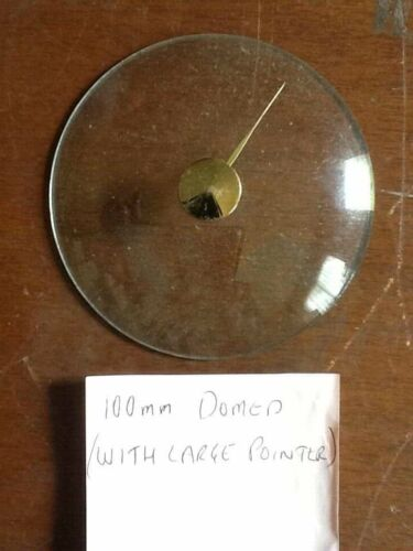 Barometer replacement glass - 100mm domed with large pointer knob