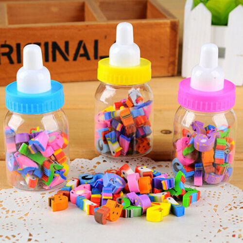 25pcs Letter Cartoon Number Rubber Pencil Eraser For Children Stationery Gift