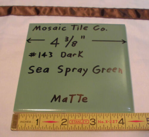 12 very nice Green wall/floor tiles made by Mosaic Tile Co.…NOS…4-3/8 inches...
