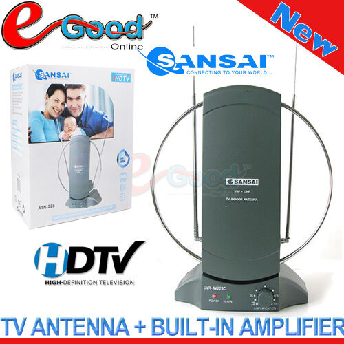 Sansai Amplified Indoor TV Antenna FOR HDTV, Digital TV, Au standard, Au Stock