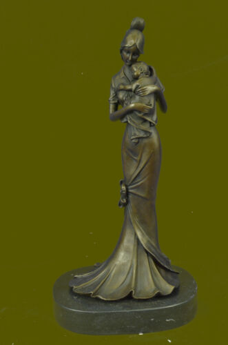"ALDO VITALEH ""TENDERNESS"" BONDED BRONZE SCULPTURE SIGNEDMOTHER W/CHILD HOT CAST"