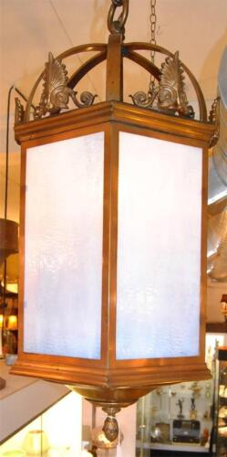 LARGE SCALE GEORGIAN INTERIOR/EXTERIOR LANTERN STYLE CHANDELIER 38""
