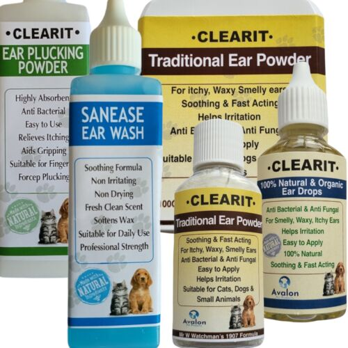 Clearit Ear Mite/Canker/Wax Treatments FAST ACTING RAPID RELIEF