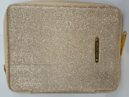 """Juicy Couture 10"""" Tablet Sleeve - Gold Glitter"""