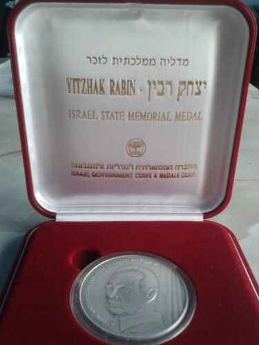 ISRAEL 1995 P.M. YITZHAK RABIN STATE MEDAL 60g 50mm PURE SILVER 999 <br/> IZRAEL 1995 P.M. YITZHAK RABIN  MEDAL 60g - srebro 999