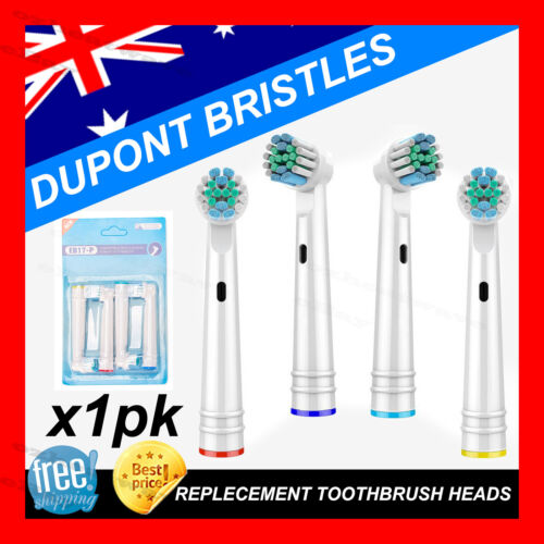 Electric Toothbrush Heads Oral B Compatible Replacement Brush x4 Precision Clean <br/> sold to over 4000 happy customers with confidence