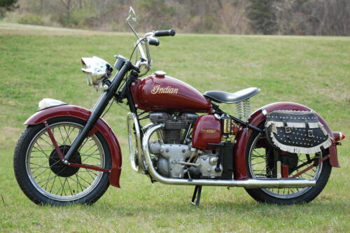 1949 INDIAN SUPER SCOUT MODEL 249 VINTAGE MOTORCYCLE POSTER 24x36 9MIL PAPER