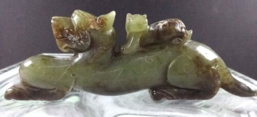 Excellent Quality Jade Chinese Lion w/Cub