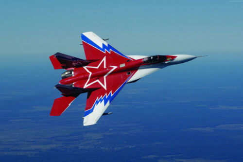 RUSSIAN MIG 29 RED STAR MILITARY JET AIRCRAFT POSTER PRINT 24x36 9MIL PAPER