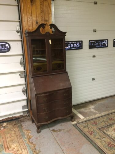 REDUCED ! ! ! ... Victorian Style Original Wood  Drop Lid Front Desk With Hutch