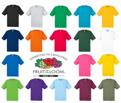 The Original Fruit Of The Loom Men's Ladies T Shirt New Value Plain Blank Tee