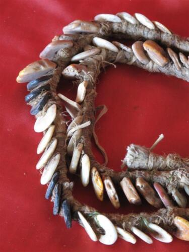 Old Papua New Guinea Currency Kina Shell Necklace… from the Central Highlands...