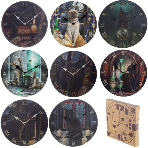 Fantasy Cat Wall Picture Clock - Decorative Gothic Witch Wiccan Pagan Mystic