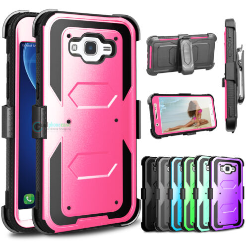 Hybrid Rugged Holster Shockproof Armor Cover Stand Case for Samsung Galaxy J7