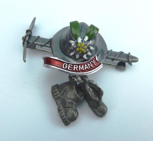German Hat Pin: Ice Axe & Hiking Boots
