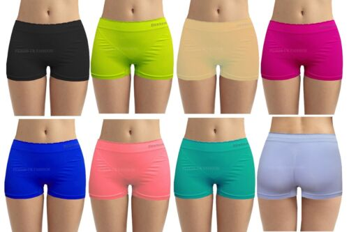 Ladies Girls PLAIN Underwear Hot Pants Brief Boxer Womens Shorts  S M L XL Lot