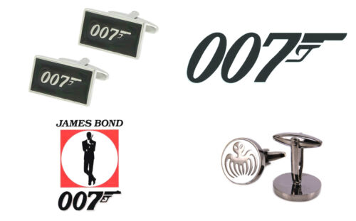 New Agent 007 James Bond and Spectre Logo 2-Pack Cufflinks Men Wedding US SELLER