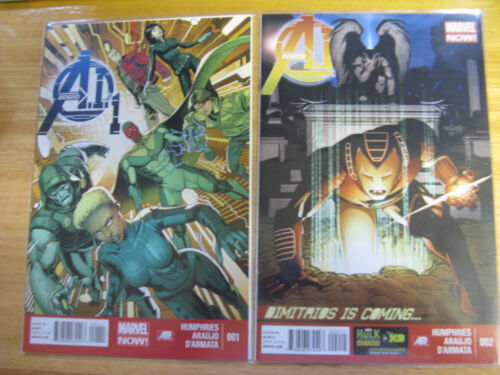 AVENGERS A1 #1 & 2. MARVEL NOW. (BRAND NEW, UNREAD)