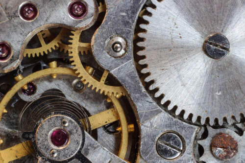 WATCH MOVEMENT GEARS CLOSE UP POSTER PRINT 24x36 HIGH RES 9MIL PAPER