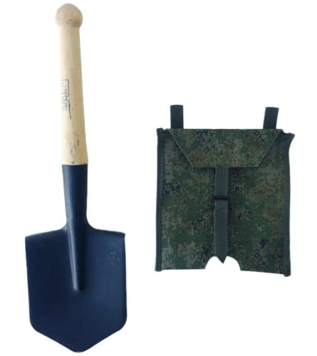 Sapper spade small infantry steel shovel russian ussr army original part + case Other Surplus Military Gear - 36077