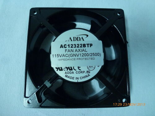 Adda AC12322BTP Fan Axial 115VAC GNV1200/2500 Impedence Protected 120mm New