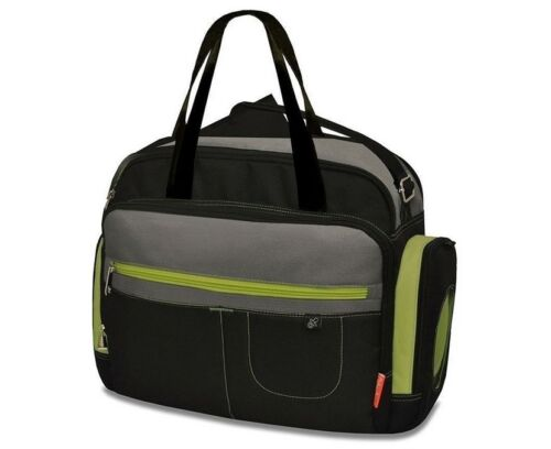 NEW Fisher Price Carry All Nappy Bag Black/Grey  #`90017