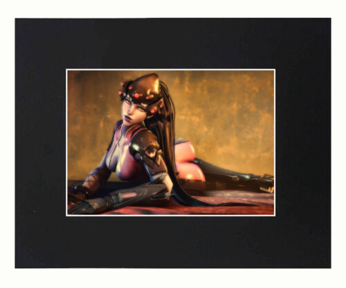 overwatch widowmaker Print picture Decor Display Poster Matted 8x10 art sexy