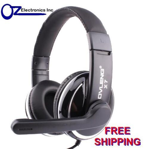 OVLENG X7 Stereo PC Gaming Headset Headphones for Skype onoine chat Mic 3.5mm