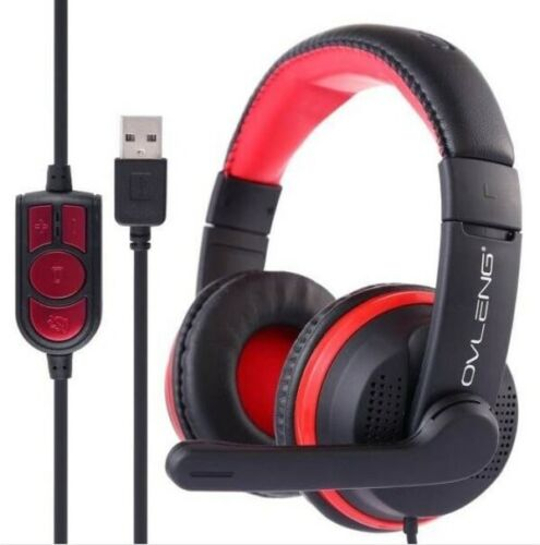 OVLENG USB Stereo PC Gaming Headset Headphones for minecraft world warcraft NEW