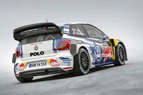 2015 VOLKSWAGEN POLO WRC RALLY RACE CAR POSTER PRINT 24x36 9MIL PAPER
