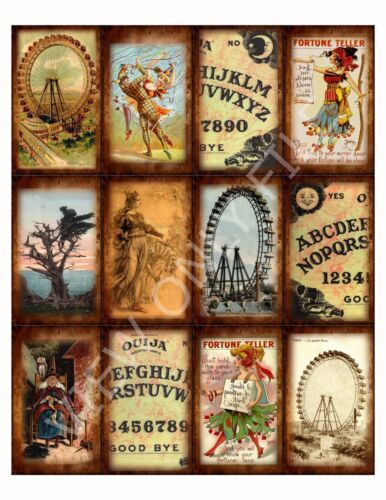 12 Fortune Teller Quija Board Vintage Hang Tags (46)